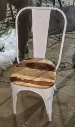 Tolix Chair With Wooden Top, For Restaurant