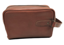 Tan Color Designer Leather Toiletry Bag