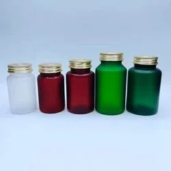 200 CC GLASS TABLET CONTAINER WITH METAL CAP