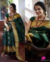 Soft Kanjivaram Silk Saree With Golden Zari Weaving