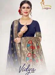 Lakshya Sarees Vidya Vol-3 Jacqard Silk Sarees Catalog