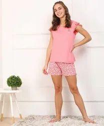 Cotton Casual Wear Girls Shorts & Top Set