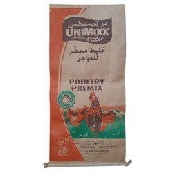 Poultry Premix Kraft Paper Laminated HDPE Woven Bag