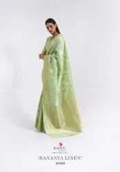Rajtex Kananya Linen Fancy Designer Cotton Silk Festive Wear Saree Collection