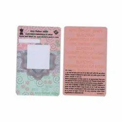 Printed Plastic Voter Card