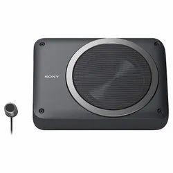 Black Sony XS-AW8 8 Active Underseat Subwoofer Peak Power:160W RMS: 75W, 2-ohms + 2-ohms