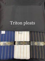 Triton Cotton Fabric, Stripe, Black