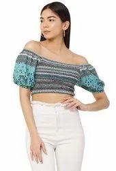 Multicolor Galaxy Trendz Girls Fashion Crop Top