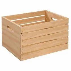 Nacturel Wooden Pallet Boxes, Capacity: 250 Kg