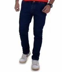 Comfort Fit Casual Wear Solid Color Wash Denim Jeans