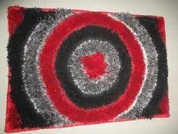 For Home Red Rectangular Room Shag Carpet