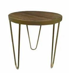 Powder Coated 2 Feet (table Top Diameter) Mild Steel Round Center Table, For Restaurant