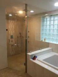 L Type Glass Shower Enclosure