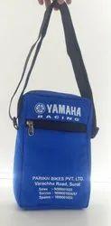 Blue Polyurethane promotional sling bag, For Office