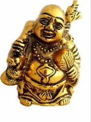 Gold Plated Laughing Buddha Statue For Good Luck Home Decoration & Corporate Gift