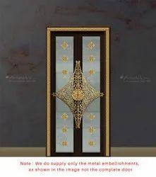 Brass Pooja Door Accessories