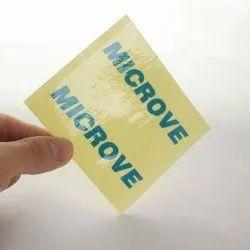 Blue Vinyl Adhesive Stickers