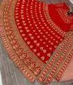 Red Heavy Malay Silk Heavy Diamonds Embroider Work Lehenga