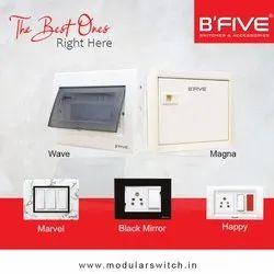 B'Five B-166 Magna Metal Distribution Board Single Door