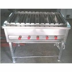 Silver Stainless Steel Barbieque Grill, For Restaurant, Size: 6 Feets