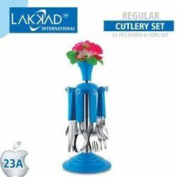 Multicolor Plastic Regular Cutlery Set, For Multiuse