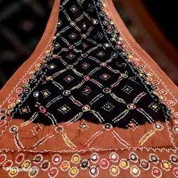 Cotton Blend Hand embroidered Dupatta