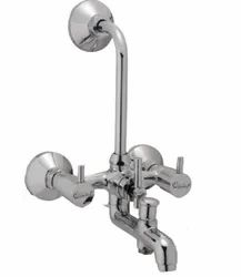 Three Handle Flora 3 In 1 Brass Wall Mixer, Size: 31.7 X 26.3 X 21.9 Cm (lxwxh)