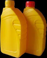Screw Cap Yellow Plastic Regular Lube Oil Bottle, Capacity: 1 Litre