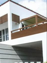 Nogal,Mahogany Sanded WPC Railings Post, For Railing Posts,Vertical Louvers