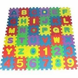 Kids Puzzle Play Mat With Fences