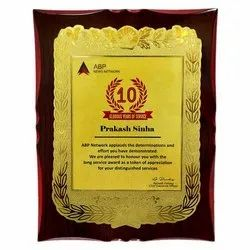Wooden Plaque With Sticker3 (Adhesive)