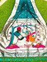 Dream Deals Banarasi Soft Silk Paithani Saree With Silvar Zari Border