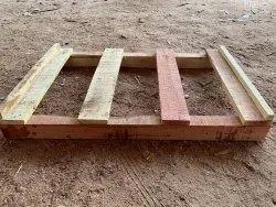 Rectangular 2 Way Hardwood Pallets, For Packaging, Capacity: 500 Kg