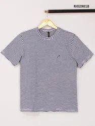 Half Sleeve Cotton Mens Round Neck T Shirt