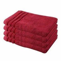 Cotton Plain Terry Bath Towel, For Hotel, Size: 5.5x2 Feet