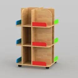 KinderArt Revolving Literacy Tower, Size: 60 X 60 X 94 Cms