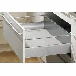 Slimline Glass Tandom Box (200 Mm ) With Load Capacity Upto 45 Kg (Grey, 8 Inch)