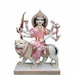 White Marble Durga Maa Statues
