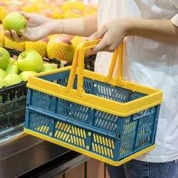 Basket Portable Folding Basket Stackable Storage Container with Handles