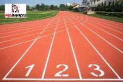 Spray Coat Running Track