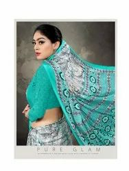 Party Wear Printed AMRUTA, 6.3 M (WITH BLOUSE PIECE)
