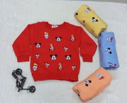 FLEECE COTTON Imported Kids T Shirts, Age: 6M-3Y