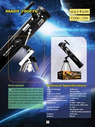 Dr. Mady 700F 76AZ Reflector Telescope