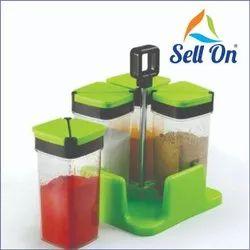Sprinkles Set Adjust & Sprinkles Set 4 Pcs Revolving Spice Rack Masala Box