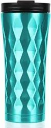 Diamond Cut Double Wall Insulated Steel Water Bottle, Capacity: 1L