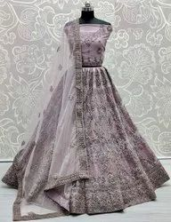 Latest Designer Heavy Soft Net With Embroidery Work Pastel Color Bridesmaid Lehnega Collection