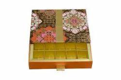 Shubhankar packaging Rectangle designer chocolate box, Size: 21x17.5x4.5 Cms
