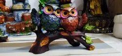 2 Owl Set Figurine