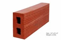 Two Hole Exposed Perforated Extruded Clay Bricks