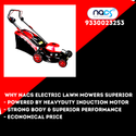 Electric Lawn Mower With Induction Motor And Steel Deck for Heavy Duty Use